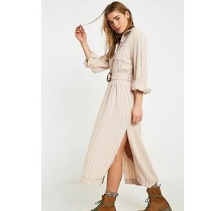 Free People Ivory Stripes Audrey Midi Dress NWT